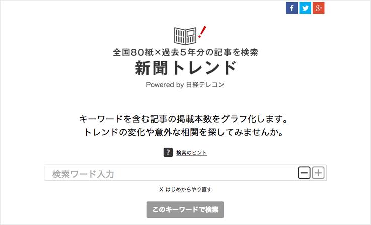 新聞トレンド Powered by 日経テレコン